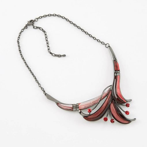 Dante Red Flower Necklace